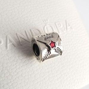 Pandora Letter to Santa Charm Christmas Silver